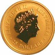 25 Dollars - Elizabeth II ( Year of the Monkey - Gold Bullion Coin) -  obverse