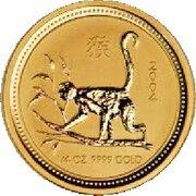 25 Dollars - Elizabeth II ( Year of the Monkey - Gold Bullion Coin) -  reverse