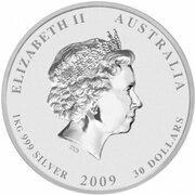 30 Dollars - Elizabeth II (4th Portrait - Year of the Ox - Silver Bullion Coin) -  obverse