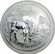 30 Dollars - Elizabeth II (4th Portrait - Year of the Horse - Silver Bullion Coin) -  reverse