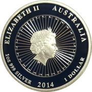 1 Dollar - Elizabeth II (4th Portrait - Australian Abalone Shell) -  obverse