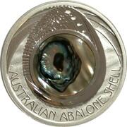 1 Dollar - Elizabeth II (4th Portrait - Australian Abalone Shell) -  reverse