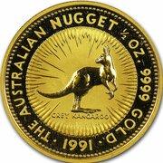 50 Dollars - Elizabeth II (3rd Portrait - Kangaroo - Gold Bullion Coin) -  reverse