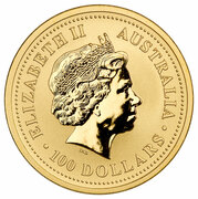 100 Dollars - Elizabeth II (4th Portrait - Year of the Rooster - Gold Bullion Coin) -  obverse