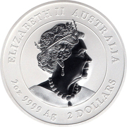 2 Dollars - Elizabeth II (6th Portrait - Year of the Mouse - Silver Bullion Coin) -  obverse