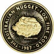 100 Dollars - Elizabeth II (4th Portrait - Australian Nugget - Gold Bullion Coin) -  reverse