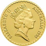 100 Dollars - Elizabeth II (3rd Portrait - Waratah Flower - Gold Bullion Coin) – obverse