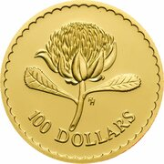 100 Dollars - Elizabeth II (3rd Portrait - Waratah Flower - Gold Bullion Coin) – reverse