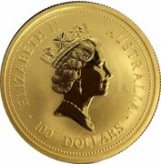 100 Dollars - Elizabeth II (3rd Portrait - Australian Nugget - Gold Bullion Coin) -  obverse