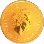 100 Dollars - Elizabeth II (4th Portrait - Australian Nugget - Gold Bullion Coin) -  obverse