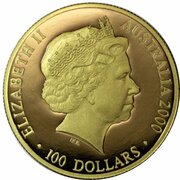 100 Dollars - Elizabeth II (4th Portrait - Summer Olympics - Gold Proof) -  obverse