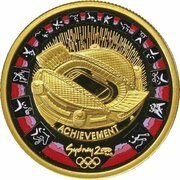 100 Dollars - Elizabeth II (4th Portrait - Summer Olympics - Gold Proof) -  reverse