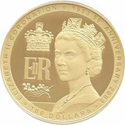 100 Dollars - Elizabeth II (4th Portrait - Golden Jubilee - Gold Bullion Coin) – reverse