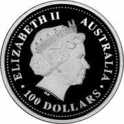 100 Dollars - Elizabeth II (4th Portrait - Koala - Platinum - Industry) -  obverse