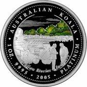 100 Dollars - Elizabeth II (4th Portrait - Koala - Platinum - Industry) -  reverse
