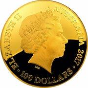 100 Dollars - Elizabeth II (4th Portrait - Celestial Dome - Southern Sky - Gold Proof) -  obverse