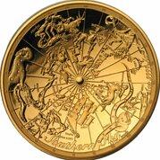 100 Dollars - Elizabeth II (4th Portrait - Celestial Dome - Southern Sky - Gold Proof) -  reverse