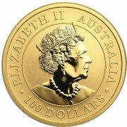 100 Dollars - Elizabeth II (6th Portrait - Kangaroo - Gold Bullion Coin) -  obverse