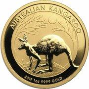 100 Dollars - Elizabeth II (6th Portrait - Kangaroo - Gold Bullion Coin) -  reverse