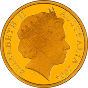 150 Dollars - Elizabeth II (4th Portrait - Cassowary - Gold Bullion Coin) -  obverse