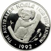 3000 Dollars - Elizabeth II (3rd Portrait - Koala - Platinum Bullion Coin) -  reverse