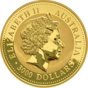 3000 Dollars - Elizabeth II (4th Portrait - Year of the Goat - Gold Bullion Coin) -  obverse