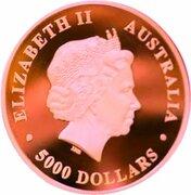 5000 Dollars - Elizabeth II (4th Portrait - The Australian Trilogy - Koala) -  obverse