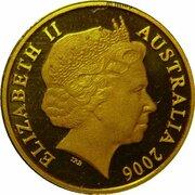 1 Cent - Elizabeth II (4th Portrait - Gold Proof) -  obverse
