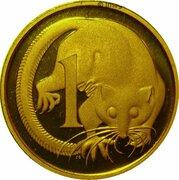 1 Cent - Elizabeth II (4th Portrait - Gold Proof) -  reverse
