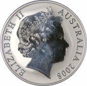 1 Dollar - Elizabeth II (4th Portrait - Mombassa Kangaroo - Silver) -  obverse