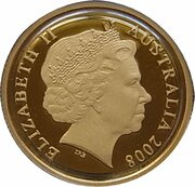 10 Dollars - Elizabeth II (4th Portrait - Mombassa Kangaroo - Gold Proof) -  obverse