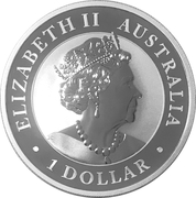 1 Dollar -Elizabeth II (6th Portrait - Hand of Faith - Silver Bullion Coin) -  obverse