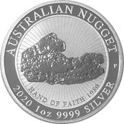 1 Dollar -Elizabeth II (6th Portrait - Hand of Faith - Silver Bullion Coin) -  reverse