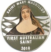 1 Dollar - Elizabeth II (4th Portrait - Saint Mary Mackillop) -  reverse