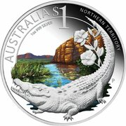 1 Dollar - Elizabeth II (4th Portrait - Saltwater Crocodile) -  reverse