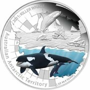 1 Dollar - Elizabeth II (4th Portrait - Killer Whale) -  reverse