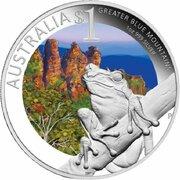 1 Dollar - Elizabeth II (4th Portrait - Celebrate Australia - Greater Blue Mountains) -  reverse