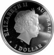 1 Dollar - Elizabeth II (4th Portrait - Wandering albatross) -  obverse