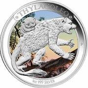 1 Dollar - Elizabeth II (4th Portrait - Megafauna - Thylacoleo) -  reverse