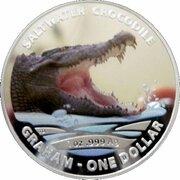 1 Dollar - Elizabeth II (4th Portrait - Saltwater Crocodile - Graham) -  reverse