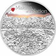 1 Dollar - Elizabeth II (4th Portrait - ANZAC Spirit 100th Anniversary - Making of a Nation) -  reverse