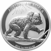 1 Dollar - Elizabeth II (4th Portrait - Koala - Silver Bullion Coin) -  reverse