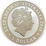 1 Dollar - Elizabeth II (4th Portrait - Bird of Paradise) -  obverse