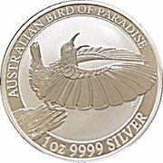 1 Dollar - Elizabeth II (4th Portrait - Bird of Paradise) -  reverse