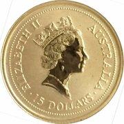 15 Dollars- Elizabeth II (3rd portrait -  Australian Nugget Gold) -  obverse