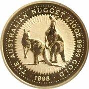 15 Dollars- Elizabeth II (3rd portrait -  Australian Nugget Gold) -  reverse