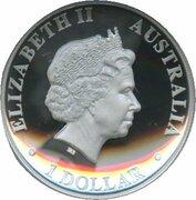 1 Dollar - Elizabeth II (4th Portrait - Kangaroo - High Relief Silver Proof) -  obverse
