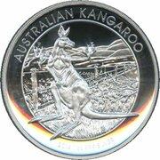 1 Dollar - Elizabeth II (4th Portrait - Kangaroo - High Relief Silver Proof) -  reverse