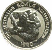15 Dollars - Elizabeth II (3rd Portrait - Koala - Platinum) – reverse