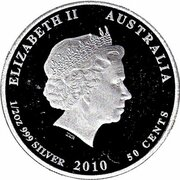 50 Cents - Elizabeth II (4th Portrait - Moray Eel) – obverse
